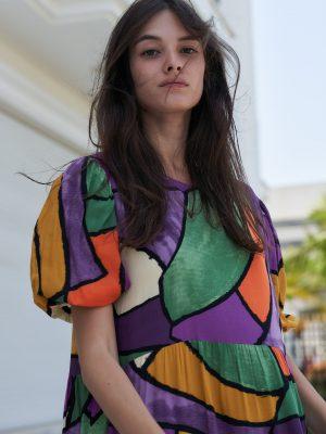 שמלה מקסי קומות קולורפול